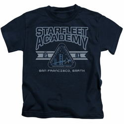 Star Trek kids t-shirt Starfleet Academy Earth navy