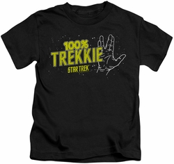 Star Trek kids t-shirt Trekkie black