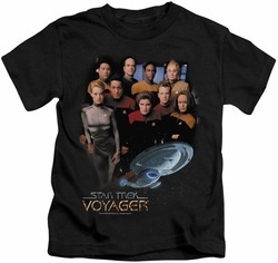 Star Trek kids t-shirt Voyager Crew black