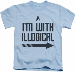 Star Trek kids t-shirt With Illogical light blue