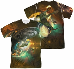 Star Trek mens full sublimation t-shirt Battle Ships