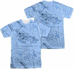 Star Trek mens full sublimation t-shirt Blue Print
