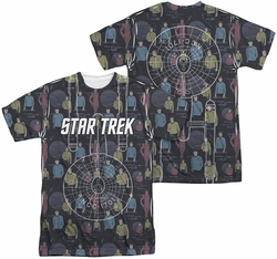 Star Trek mens full sublimation t-shirt Enterprise Crew