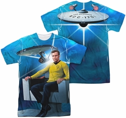 Star Trek mens full sublimation t-shirt Kirk's Ship