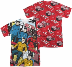 Star Trek mens full sublimation t-shirt Long Panel