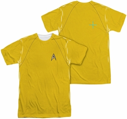 Star Trek mens full sublimation t-shirt TOS Command Uniform