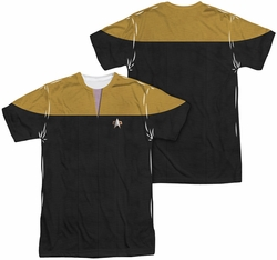 Star Trek mens full sublimation t-shirt Voyager Engineering Uniform