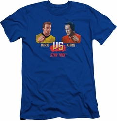 Star Trek Movie slim-fit t-shirt Kirk Vs Khan mens royal