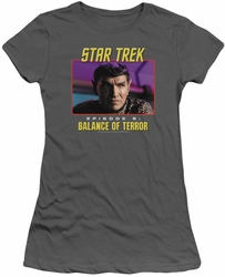 Star Trek Original Series juniors t-shirt Balance Of Terror charcoal