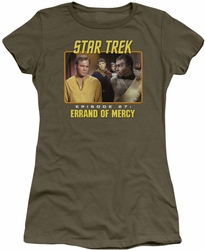 Star Trek Original Series juniors t-shirt Episode 27 military green