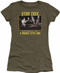Star Trek Original Series juniors t-shirt Episode 45 military green