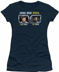Star Trek Original Series juniors t-shirt Know Your Spock navy