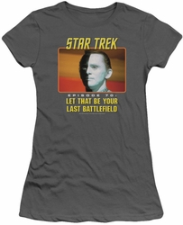 Star Trek Original Series juniors t-shirt Last Battlefield charcoal
