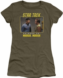 Star Trek Original Series juniors t-shirt Mirror Mirror military green