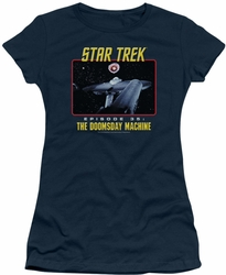 Star Trek Original Series juniors t-shirt The Doomsday Machine navy