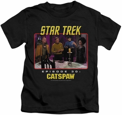 Star Trek Original Series kids t-shirt Cat's Paw black