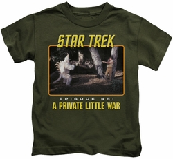 Star Trek Original Series kids t-shirt Episode 45 military green