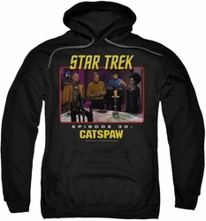Star Trek Original Series pull-over hoodie Cat's Paw adult black