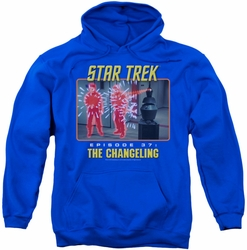 Star Trek Original Series pull-over hoodie The Changeling adult royal blue