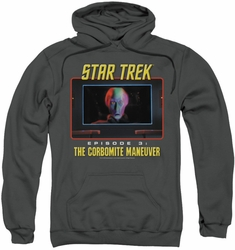 Star Trek Original Series pull-over hoodie The Corbomite Maneuver adult charcoal