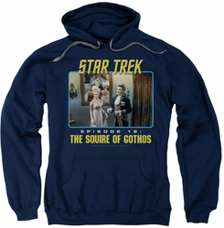 Star Trek Original Series pull-over hoodie The Squire Of Gothos adult navy