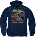 Star Trek Original Series pull-over hoodie The Trouble With Tribbles adult navy