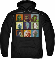 Star Trek pull-over hoodie Alien Squares adult black