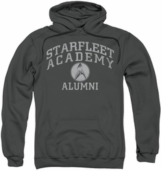 Star Trek pull-over hoodie Alumni adult charcoal