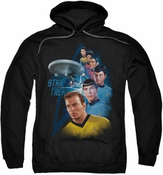 Star Trek pull-over hoodie Among The Stars adult black