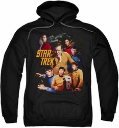 Star Trek pull-over hoodie At The Controls adult black