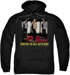 Star Trek pull-over hoodie Beam Me Out adult black