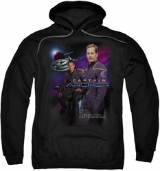 Star Trek pull-over hoodie Captain Archer adult black