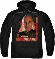 Star Trek pull-over hoodie Captain Picard adult black