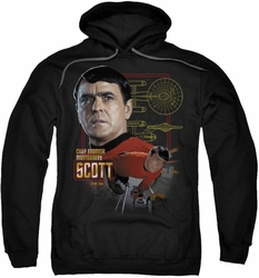 Star Trek pull-over hoodie Chief Engineer Scott adult black