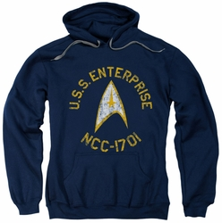 Star Trek pull-over hoodie Collegiate adult navy
