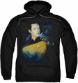 Star Trek pull-over hoodie Data 25th adult black