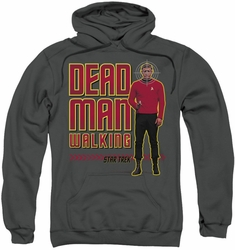 Star Trek pull-over hoodie Dead Man Walking adult charcoal