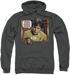 Star Trek pull-over hoodie Enemy Wessel adult charcoal