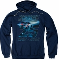 Star Trek pull-over hoodie Enterprise 25 adult navy