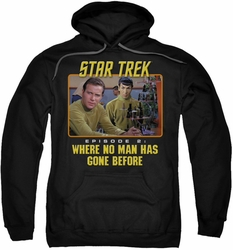 Star Trek pull-over hoodie Episode 2 adult black