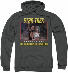 Star Trek pull-over hoodie Episode 46 adult charcoal