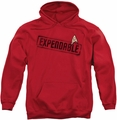 Star Trek pull-over hoodie Expendable adult red