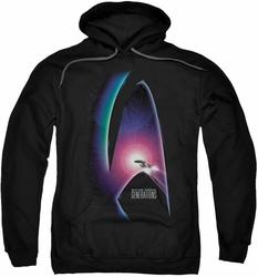 Star Trek pull-over hoodie Generations adult black