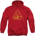 Star Trek pull-over hoodie Gold Academy adult red