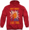 Star Trek pull-over hoodie Got This adult red