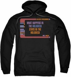 Star Trek pull-over hoodie Holodeck Secrets adult black