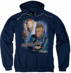 Star Trek pull-over hoodie Neelix adult navy