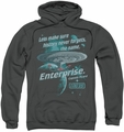 Star Trek pull-over hoodie Never Forget adult charcoal