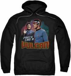Star Trek pull-over hoodie Party Like A Vulcan adult black