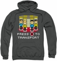 Star Trek pull-over hoodie Press A To Transport adult charcoal